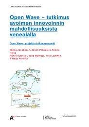 Open Wave–tutkimus avoimen innovoinnin ... - Finnboat