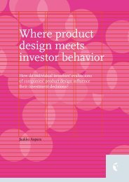 Where product design meets investor behavior