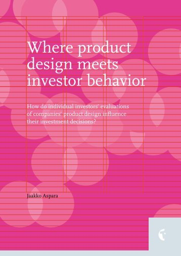 Where product design meets investor behavior