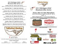 Stony (Not So Hot) Marathon 2013 Michigan ... - Tailwind Racing