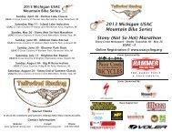 Stony (Not So Hot) Marathon 2013 Michigan ... - Tailwind Racing