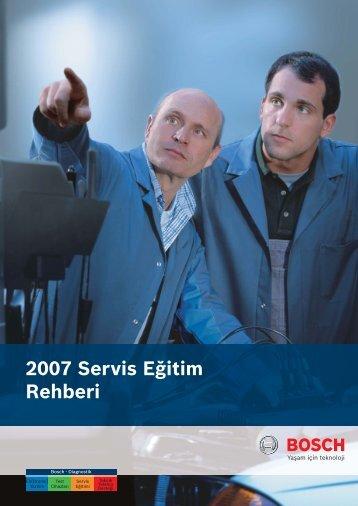 2007 Servis Eğitim Rehberi - Bosch Test Cihazları