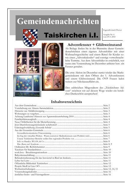 Tag der lteren - Gemeinde Taiskirchen