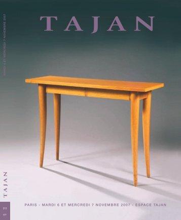 Arts Décoratifs du XXe siècle - Design - Tajan