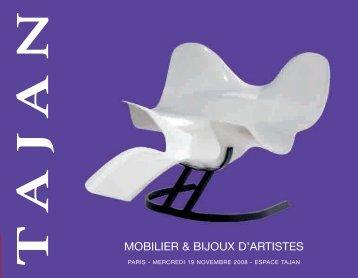 MOBILIER & BIJOUX D'ARTISTES - Tajan