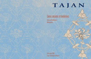 Tajan - Livres anciens et modernes - Vente le 08 décembre 2005