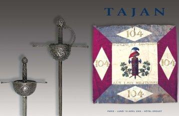 Tajan - Armes et souvenirs historiques - Vente le 18 avril 2005