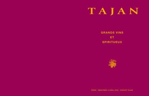 GRANDS VINS ET SPIRITUEUX - Tajan