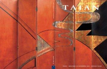 Tajan - Arts décoratifs du 20e siècle - Vente le 30 novembre 2005