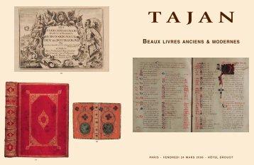 Tajan - Livres anciens et modernes - Vente le 24 mars 2006
