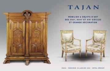Mobilier et objets d'art du XVII, XVIII et XIXe siècles - Tajan