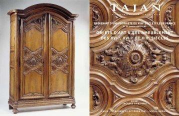 Mobilier et objets d'art des 18e et 19e siècles - Tajan