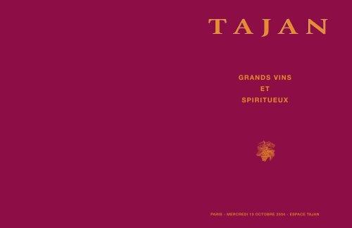 Tajan - Grands vins et spiritueux - Vente le 13 octobre 2004