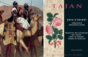 ARTS D'ORIENT - TABLEAUX ORIENTALISTES - Tajan