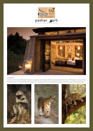 Lodge fact sheet - Taj Safaris