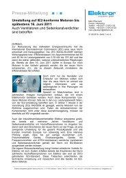 IE2-Umstellung von Ventilatoren und Seitenkanalverdichter