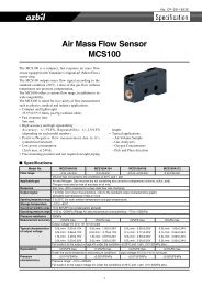 Air Mass Flow Sensor MCS100