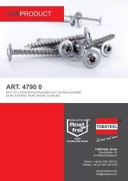 ART. 4790 0 TOBPRODUCT - TOBSTEEL GmbH