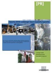 bauma 2010: Losberger baut Ausstellungszelte - Wer liefert was