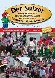 Hinnafelder Kerzekerb vom 23. - 27. Juli 2010 - Der Sulzer