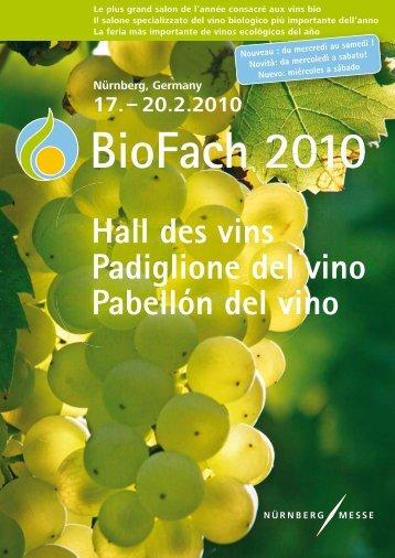 Hall des vins Padiglione del vino Pabellón del vino - BioFach