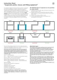 """Instruction Sheet """"Suspension points, trusses and lifting ... - Powtech"""