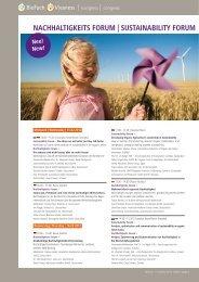 NACHHALTIGKEITS FORUM   SUSTAINABILITY FORUM - BioFach