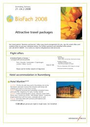 Attractive travel packages - BioFach