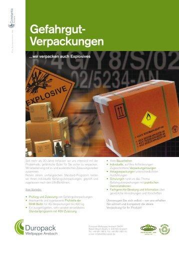 Gefahrgut- Verpackungen
