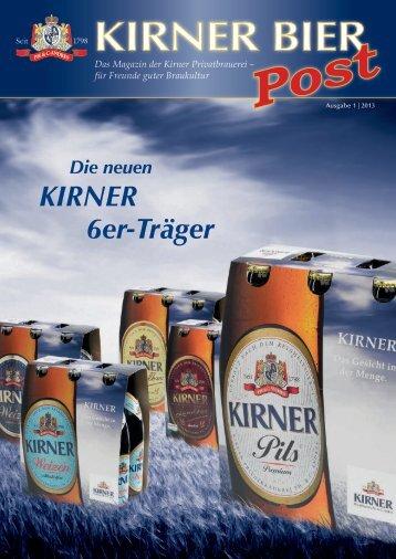 Die neuen KIRNER 6er-Träger - Kirner Bier