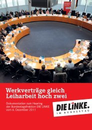 Werkverträge gleich Leiharbeit hoch zwei - Die Linke. im Bundestag