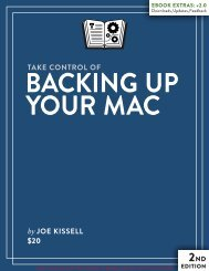 Take Control of Backing Up Your Mac (2.0) SAMPLE