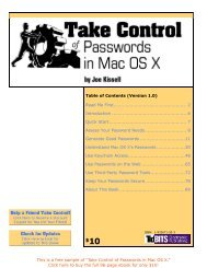 Take Control of Passwords in Mac OS X
