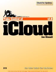 Take Control of iCloud (1.0.1) SAMPLE