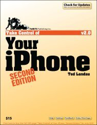 Take Control of Your iPhone, Second Edition (2.0) SAMPLE