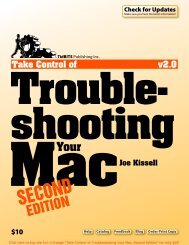 Take Control of Troubleshooting Your Mac (2.0) SAMPLE