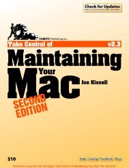 Take Control of Maintaining Your Mac (2.3) SAMPLE