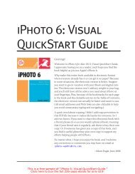 Visual QuickStart Guide SAMPLE - Take Control
