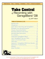 Free sample - Take Control of Recording in GarageBand '08 (1.0)