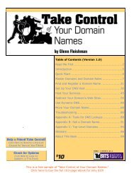 Take Control of Your Domain Names SAMPLE