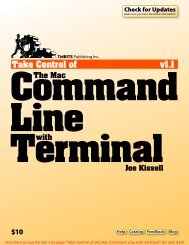Take Control of the Mac Command Line with Terminal (1.1)