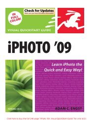 iPhoto '09 for Mac OS X: Visual QuickStart Guide - Take Control