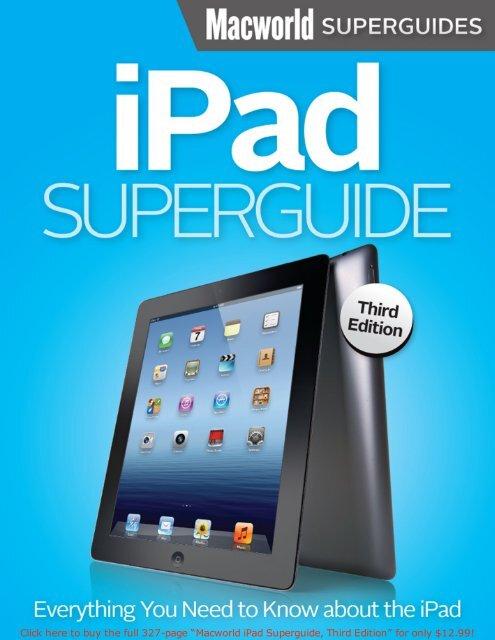 Macworld iPad Superguide (3.0) SAMPLE - Take Control