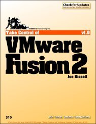 Take Control of VMware Fusion 2 (1.0) SAMPLE