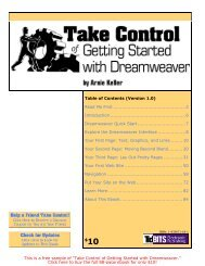 Take Control of Getting Started with Dreamweaver SAMPLE