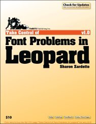 Take Control of Font Problems in Leopard (1.0)