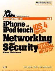 Take Control of iPhone and iPod touch Networking & Security, iOS 4 ...
