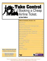 Take Control of Booking a Cheap Airline Ticket SAMPLE