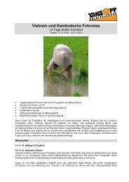 Vietnam und Kambodscha Fotoreise - bei TAKE OFF Erlebnisreisen