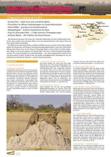 NAMIBIA UND BOTSWANA - bei TAKE OFF Erlebnisreisen